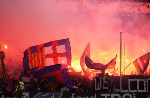 هواداران بارسلونا ال کلاسیکو
