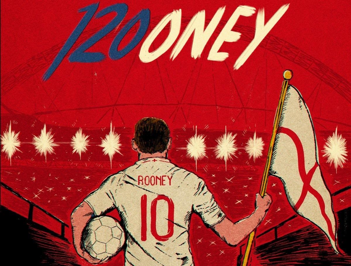 صد و بیستمین بازی ملی وین رونی برای انگلیس