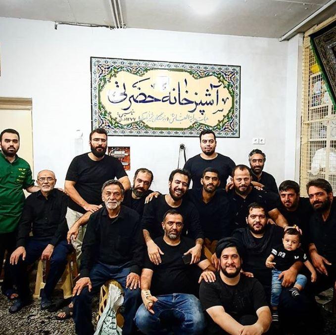 محمد انصاری و دوستان هیئتی اش