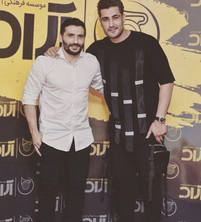 جواد کاظمیان در کنار شهاب رمضان