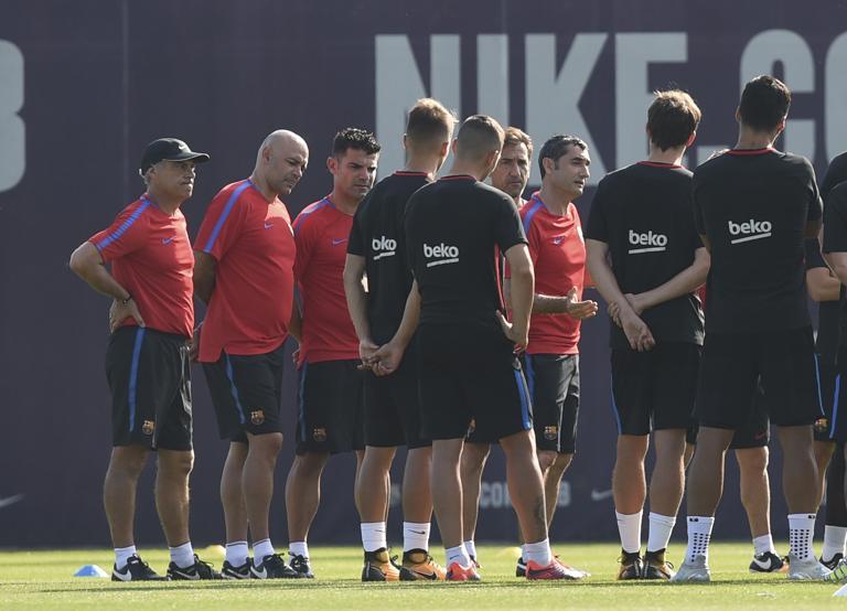 تمرین بارسلونا
