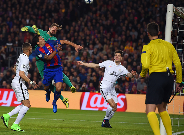 لوییس سوارز - کوین تراپ - بارسلونا - پاری سن ژرمن - لیگ قهرمانان اروپا