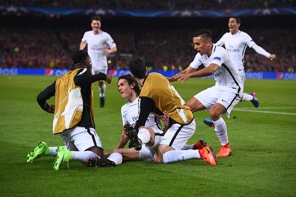 ادینسون کاوانی - پاری سن ژرمن - بارسلونا - لیگ قهرمانان اروپا